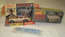 Vintage old toys from classic 50s 60s TV Television